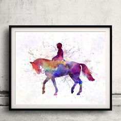 Horse show 02  Fine Art Print Glicee Poster Home by Paulrommer
