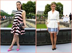 Love the look they chose to Christian Dior show!