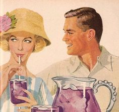 Vintage drink illustration