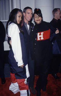 Aaliyah and Kidada Jones | Aaliyah, Tommy Hilfiger and Kidada Jones
