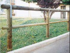 """Recinzione """"Corrimano"""" a 1 traversa in legno di pino svedese impregnato. #staccionata #steccato"""