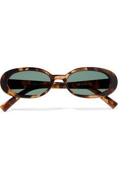 5e62280a1b1 Le Specs - Outta Love oval-frame tortoiseshell acetate sunglasses