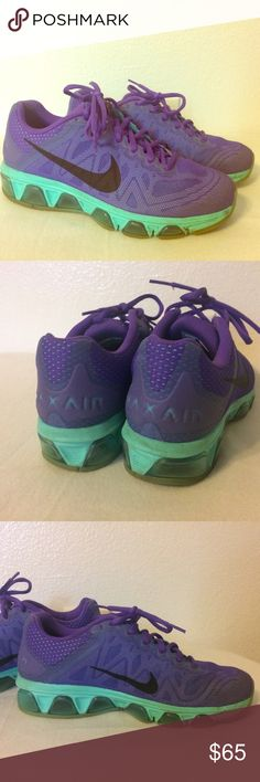 Nike Air Max Previously loved but in great condition. Purple and mint green. Beautiful colors. NO TRADES.  No lowballing. Nike Shoes Athletic Shoes
