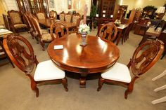 Round Dining Table with 4 Chairs - Colleen's Classic Consignment