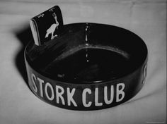 Original Stork Club ashtray with matches -- I have this ashtray -- my grandmother's last name was Storke and someone must have given it to her.