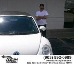 https://flic.kr/p/GGKGwN | Happy Anniversary to Eugene  on your #Volkswagen #New Beetle Convertible from Neco Marine at Texoma Hyundai! | deliverymaxx.com/DealerReviews.aspx?DealerCode=L967