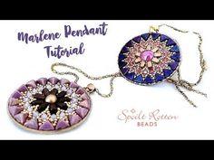 Marlene Pendant - Les Perles Par Puca - YouTube