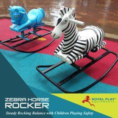 Zebra Horse Rocker #royalplayequipment #playgroundequipment #zebrahorserocker #childrensplayground