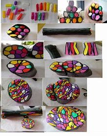 Image result for Polymer Clay Rainbow Cane