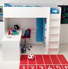 STUVA MALAD loft bed with desk and wardrobe by Ikea