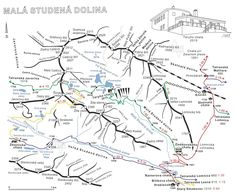 Malá Studená dolina Map, Location Map, Maps