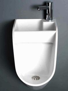 mictório com lavatório acoplado