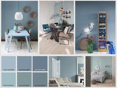 GRIJSBLAUW Vergrijsde blauwtinten, vooral erg mooi in combinatie met hout en warme materialen - www.witzand.nl