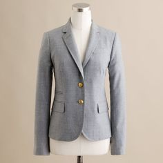 J.Crew Tall schoolboy blazer in wool flannel ($198) ❤ liked on Polyvore