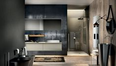 Wooden bathroom furniture - the timelessly elegant bathroom design Chrono - Decoration Gram Bathroom Images, Bathroom Trends, Bathroom Design Small, Modern Bathroom, Bathroom Furniture, Bathroom Interior, Ideas Baños, Italian Bathroom, Wall Mounted Vanity