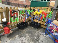 Water wall EYFS outdoor learning