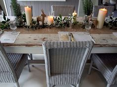 tablescape - rosemary for decoration