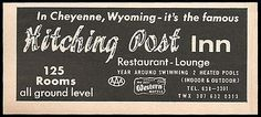 Hitching Post Inn Ad Cheyenne Wyoming Heated Pools 1964 Roadside Ad Travel