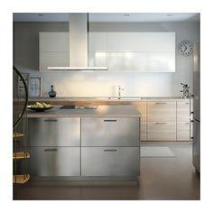 GREVSTA Dörr, rostfritt stål rostfritt stål 40x80 cm