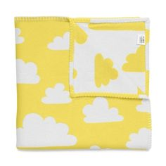 Farg & Form Soft Clouds Pram/Cot Blanket - Yellow/White