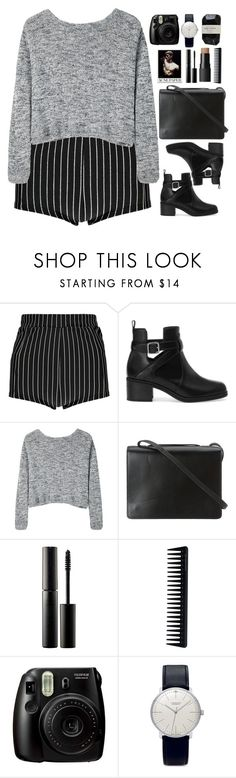 """""""And I don't wanna cry about it"""" by annaclaraalvez ❤ liked on Polyvore featuring Boohoo, Pull&Bear, Bodkin, BCBGMAXAZRIA, Surratt, NARS Cosmetics, GHD, Fujifilm, Junghans and Cassia"""