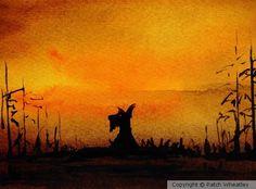 Scottie Dog 'Dusk' by Patch Wheatley   ArtWanted.mobi