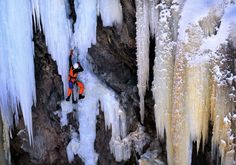 """extreme sports photography - news - Dancing with Gravity - Tim Glasby Photography www.timglasby.com """"Ice climbing is arguably the most extreme sport of all. It requires meticulous planning and complete reliance on very specialized equipment in the most ... Base Jumping, Ice Climbing, Extreme Sports, Dancing, Fun, Photography, Live, News, Speed Of Gravity"""