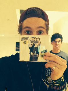 It's just a normal photo....until you see Calum excellent photo bomb...