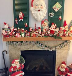 "Tammy❤️🎶 on Instagram: ""🎶It's the Hap-happiest time of the year❣️I just love all the colors🤶🏻🎄🎅🏻#Santa #blowmold #fleamarketfinds #fleamarketdecor #collection…"" Flea Market Decorating, Flea Market Finds, Blow Molding, Christmas Mantels, Time Of The Year, Just Love, All The Colors, Santa, Frame"