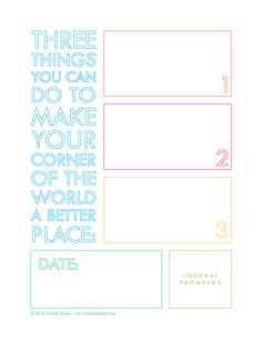 Printable Guided Journal Pages — Christie Zimmer