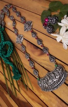 048bd9fed8347 48 Best Temple german silver necklace set collection images in 2017 ...