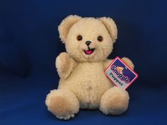 New product '1985 RUSS 1833 Snuggle Cream Sherpa Bear Full Body Puppet' added to Dirty Butter Plush Animal Shoppe! - $12.00 - 1985 RUSS No. 1833 Plush 10 inch Seated Snuggle Cream Sherpa Bear Full Body Puppet - Tan Sherpa Ears, Hands - Tan Velour…