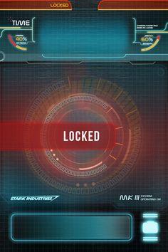 Stark Industries iPhone lock screen wallpaper.