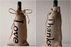 #Burlap #Bottle #Bag