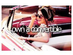 own a convertable