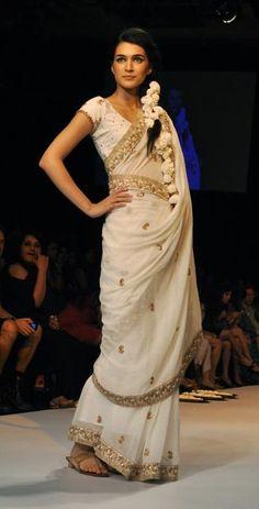 Gorgeous #Khaadi #Saree by Soumitra Mondal's www.MargCouture.com  Howrah, Bengal
