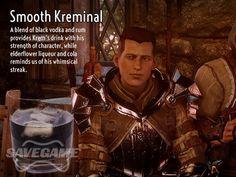 Smooth Kreminal – Cremisius 'Krem' Aclassi Recipe      1 oz Black Vodka     1 oz Rum     1/2 oz Elderflower Liqueur     Fill with Coke