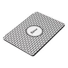 Stylish black and white diamond weave iPad pro cover - pattern sample design template diy cyo customize