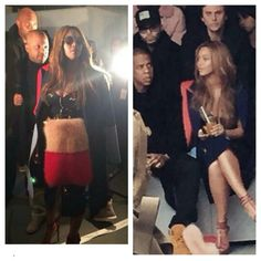 Beyonce Knowles and Jayz was spotted at Kanye West Fashion Show for his adidas collection Yeezy Boosts.