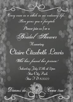 f0d92527e0c Image result for fairytale bridal shower invitation Fairytale Wedding  Invitations