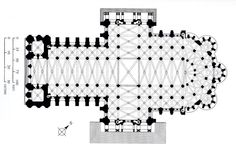 60. Chartres Cathedral plan. (Image set, 6/6)