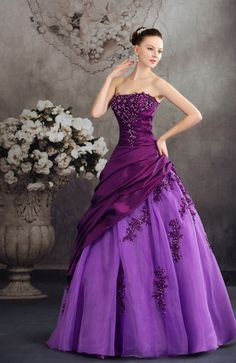 Disney Princess Beach Strapless Sleeveless Taffeta Floor Length Bridal Gowns - iFitDress.com
