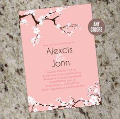 Cherry Blossoms - Custom Bridal Shower Invitations as low as .60 ea. shipped…