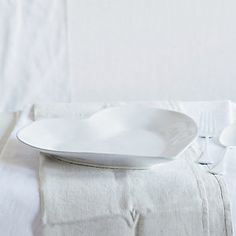 Porto Stoneware Heart Dinner Plate & Bowl Ceramic Heart Shaped Small White at wilko.com | Cottage Chic ...