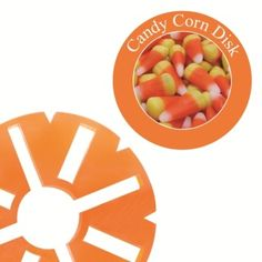 Large Candy Corn Fragrance Disk for LED Holiday Wax-less Warmer Over 70 hours of fragrance.