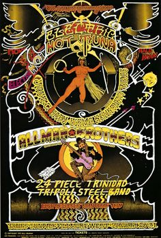 Hot Tuna / The Allman Brothers Band (Fillmore West - 1971) Poster by Norman Orr