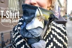 48 Ways How to Reuse Your Old T-Shirt craft, tshirt infin, infinity scarfs, old styles, diy clothes, diy tshirt, scarv, infin scarf, old t shirts