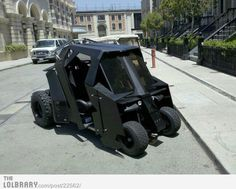 Batman's Golf Cart. This would be the best thing ever for a round of golf. I am putting it on my want list