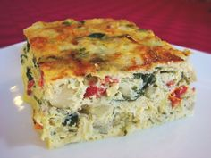 Baked Frittata with Artichokes, Sun Dried Tomatoes, and Feta Cheese Recipe