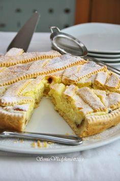 Tvarohový koláč s vanilkovým krémem